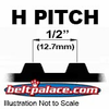 "H Section Timing belts. 1/2"" Pitch Trapezoidal Tooth Gear Belts."