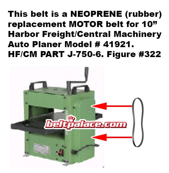 J 750 6 Harbor Freight Central Machinery 41831 Replacement