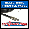 Heald Hauler Throttle Cable. For 3-Wheeler with dump box bed.