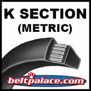 K Section Metric V Belts for Specialty Machine Tools.