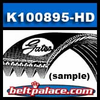 K100894HD Automotive Micro-V Belt. GATES� FLEETRUNNER� K100894-HD Belt