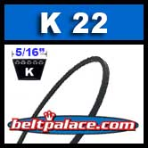 K22 Metric V Belt. BANDO K22/K559 Industrial V-Belt.