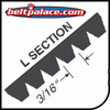 "L Section Poly V Belts. 3/16"" Rib Width. Industrial L Section Micro V belts"