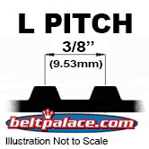 "L Timing Belts. 3/8"" Pitch Trapezoidal Tooth Gear belts."