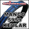 MANCO 5959 ASYM BELT. IMPORTED KEVLAR GO KART BELT 5959.