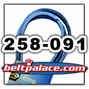 STENS 258-091 Belt. Stens True-Blue OEM replacement belt for BOBCAT 38234, DAYCO L591, DIXIE CHOPPER 2006B88W, GATES 6991, GOODYEAR 85910, WOODS 70003 Mower belt.