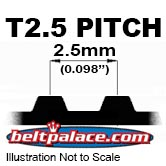 T2.5 Timing Belts. 2.5mm Metric Timing Belts