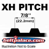 "XH Timing belts. 7/8"" Pitch Trapezoidal Tooth Gear Belts."