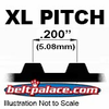 "XL Timing Belts. Trapezoidal Tooth Gear belts - 0.200"" Pitch"
