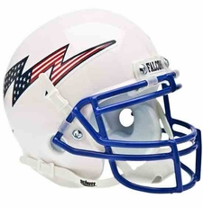 Air Force Falcons Red, White, Blue Logo No Stripes Schutt Authentic Mini Helmet