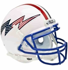 Air Force Falcons Red, White, Blue Logo w/ Stripes Schutt Authentic Mini Helmet