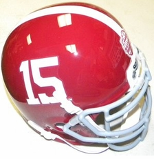 Alabama Crimson Tide #15 Back To Back National Champion Schutt Mini Helmet