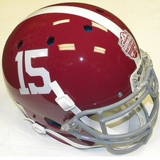 Alabama Crimson Tide #15 Champions Schutt Authentic XP Helmet