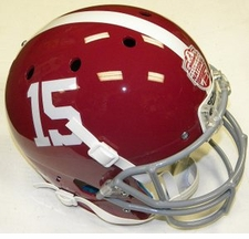 Alabama Crimson Tide #15 Champions Schutt Full Size Replica XP Helmet