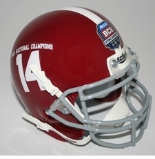 Alabama Crimson Tide 2011 National Champion Schutt Mini Helmet