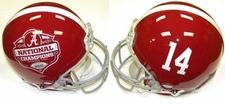 Alabama Crimson Tide 2011 National Champions #14 Riddell Authentic Pro Line Helmet