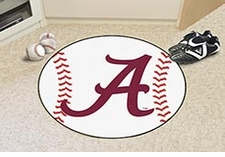 "Alabama Crimson Tide ""A"" 27"" Baseball Floor Mat"