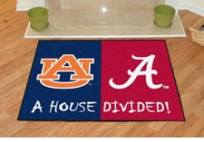 Alabama Crimson Tide - Auburn Tigers House Divided Floor Mat