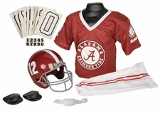 Alabama Crimson Tide Deluxe Youth / Kids Football Helmet Uniform Set