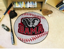 "Alabama Crimson Tide Elephant 27"" Baseball Floor Mat"