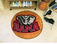 "Alabama Crimson Tide Elephant 27"" Basketball Floor Mat"