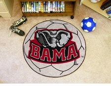 "Alabama Crimson Tide Elephant 27"" Soccer Ball Floor Mat"