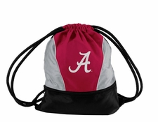 Alabama Crimson Tide Gray String Pack / Backpack