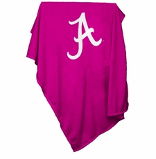 Alabama Crimson Tide Pink Sweatshirt Blanket