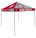 Alabama Crimson Tide Red / Grey Checkerboard Logo Canopy Tailgate Tent