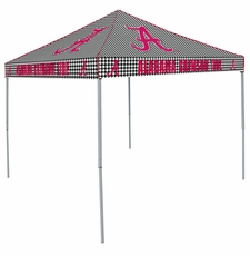 Alabama Crimson Tide Red / Houndstooth Checkerboard Logo Canopy Tailgate Tent