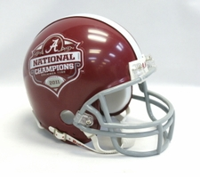 Alabama Crimson Tide Replica 2011 National Champion Riddell Mini Helmet