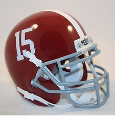 Alabama Crimson Tide '15' Schutt Authentic Mini Helmet