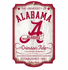 Alabama Crimson Tide Wood Sign - College Vault