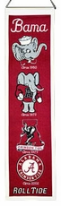 Alabama Crimson Tide Wool 8x32 Heritage Banner