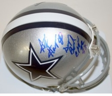 Alvin Harper Dallas Cowboys Autographed Mini Helmet