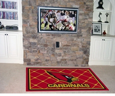 Arizona Cardinals 4'x6' Floor Rug