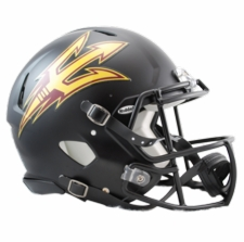 Arizona State Sun Devils Black Riddell Revolution Speed Authentic Helmet