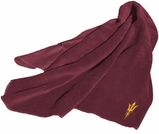 Arizona State Sun Devils Fleece Throw (Maroon)