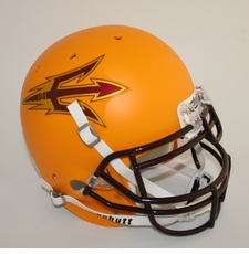 Arizona State Sun Devils Gold Schutt Authentic Full Size Helmet