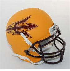 Arizona State Sun Devils Gold Schutt Authentic Mini Helmet
