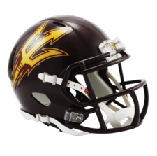 Arizona State Sun Devils Maroon Riddell Speed Mini Helmet