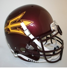 Arizona State Sun Devils Maroon Schutt Authentic Full Size Helmet