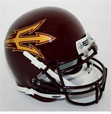 Arizona State Sun Devils Maroon Schutt Authentic Mini Helmet