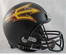 Arizona State Sun Devils Black Riddell Pro Line Authentic Helmet