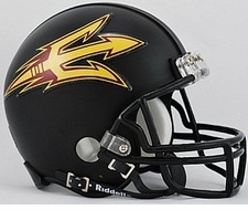 Arizona State Sun Devils Black Riddell Replica Mini Helmet