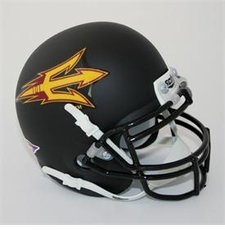 Arizona State Sun Devils Black Schutt Authentic Full Size Helmet
