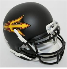 Arizona State Sun Devils Black Schutt Authentic Mini Helmet