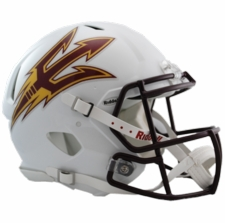 Arizona State Sun Devils White Riddell Revolution Speed Authentic Helmet