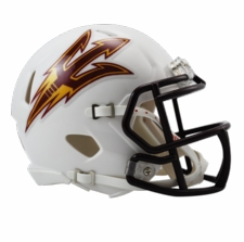 Arizona State Sun Devils White Riddell Speed Mini Helmet
