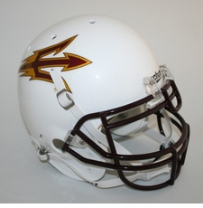 Arizona State Sun Devils White Schutt Authentic Full Size Helmet